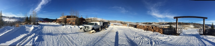 Gerry Willomitzer dog truck - time off in Wyoming with Billy Snodgrass