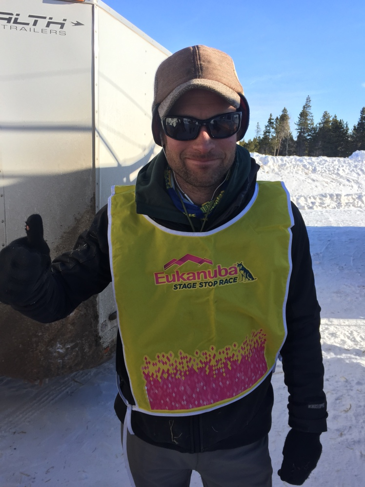 JR Anderson wears the yellow bib on the last day of the 2016 Eukanuba Stage Stop